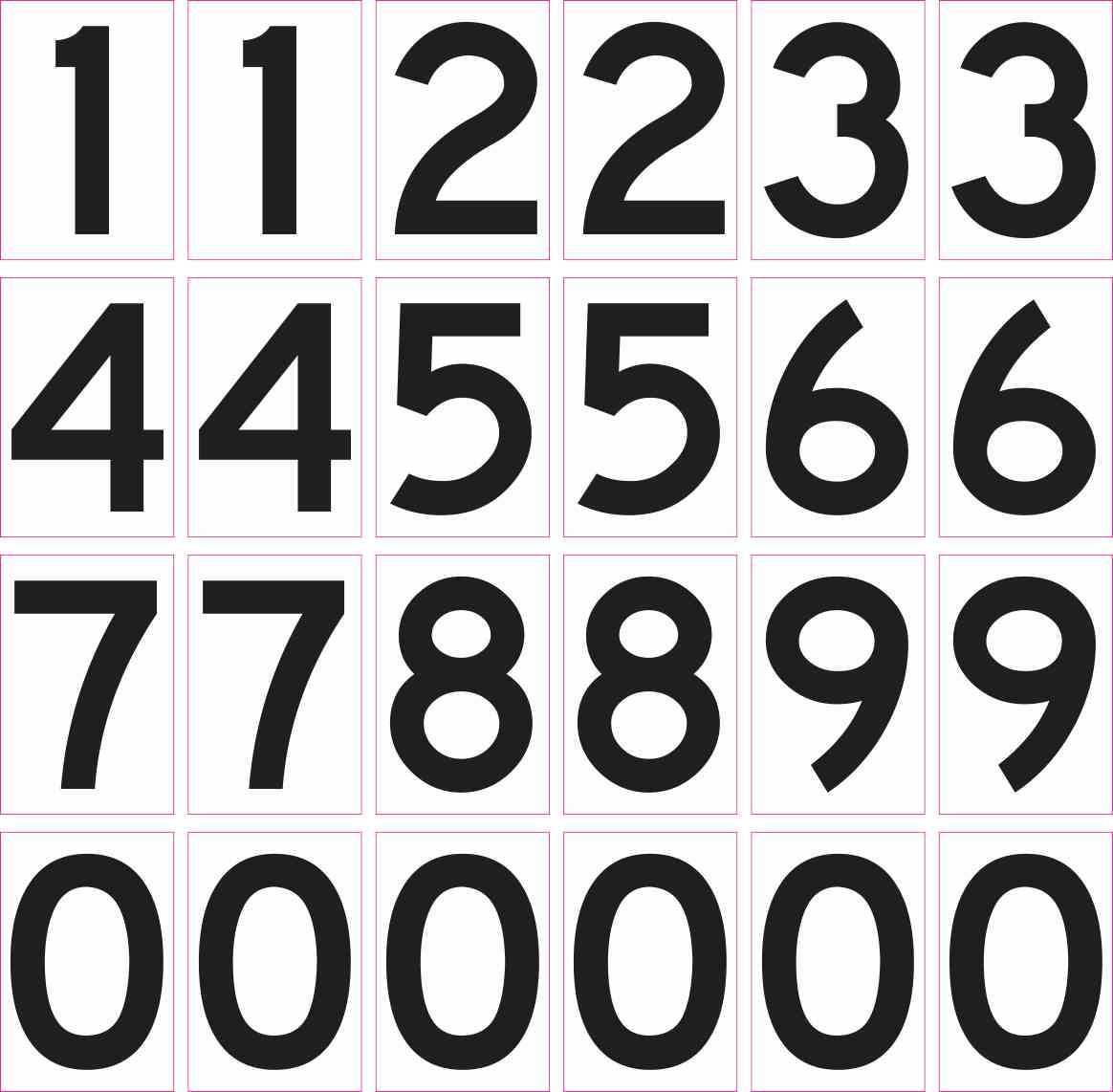 Mailbox Numbers Permanent Vinyl Stickers