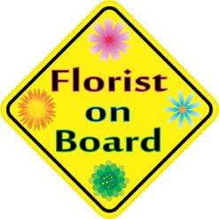 Florist On Board Sticker
