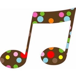 Polka Dot Double Eighth Note Sticker