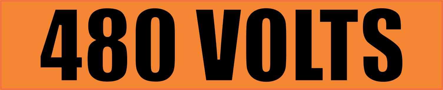 480 Volts Sticker