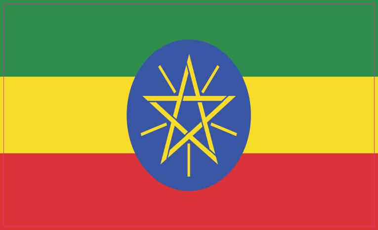 Ethiopian Flag Sticker