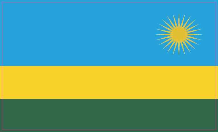 Rwandan Flag Magnet