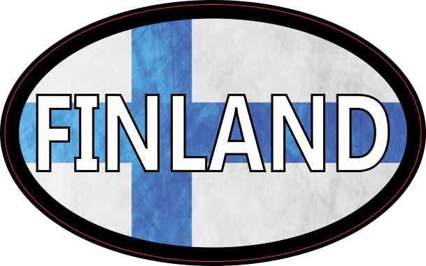 Flag Oval Finland Sticker