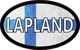 Oval Finnish Flag Lapland Sticker