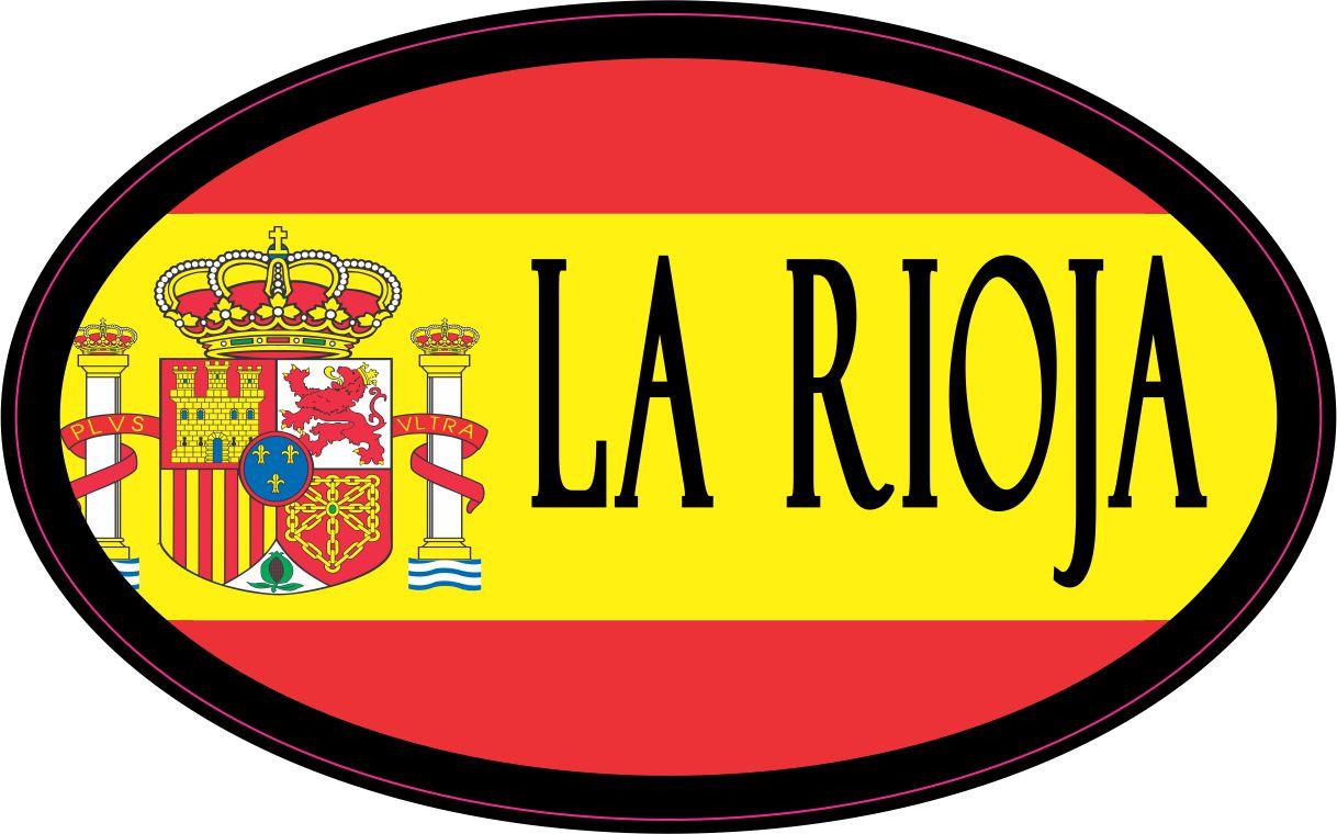 Oval Spanish Flag La Rioja Sticker