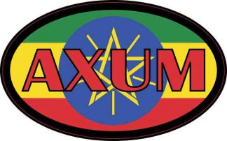 Oval Ethiopian Flag Axum Sticker