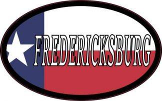 Oval Texan Flag Fredericksburg Sticker