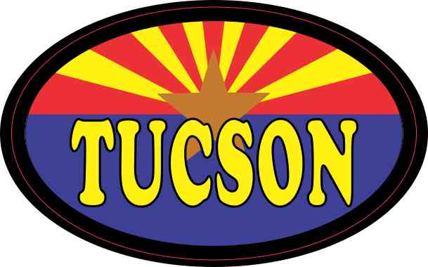 Oval Arizonan Flag Tucson Sticker