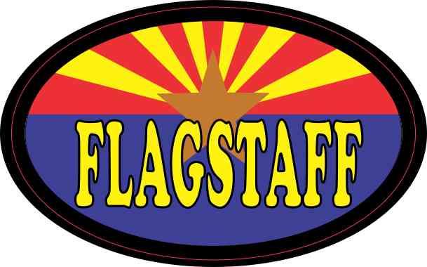 Oval Arizonan Flag Flagstaff Sticker