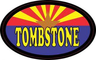Oval Arizonan Flag Tombstone Sticker