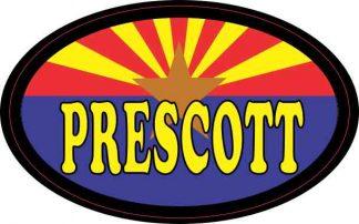 Oval Arizonan Flag Prescott Sticker