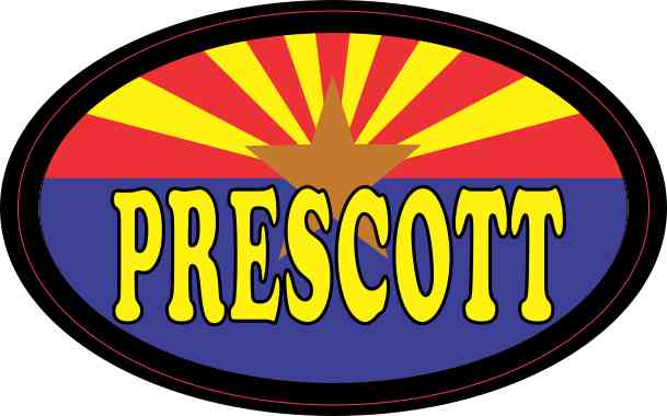 Oval Arizonan Flag Prescott Sticker
