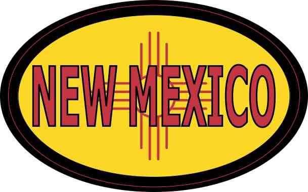 Flag Oval New Mexico Sticker