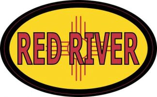 Oval New Mexico Flag Red River Sticker