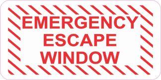 Emergency Escape Window Sticker