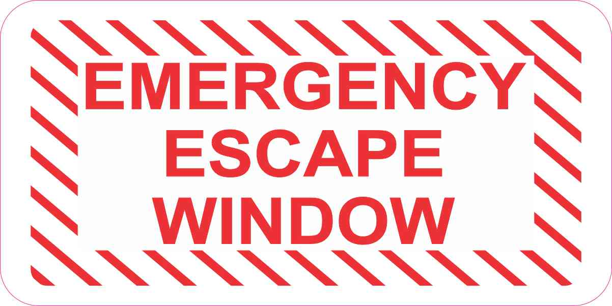 Emergency Escape Window Sticker