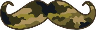 Dark Camo Mustache Sticker