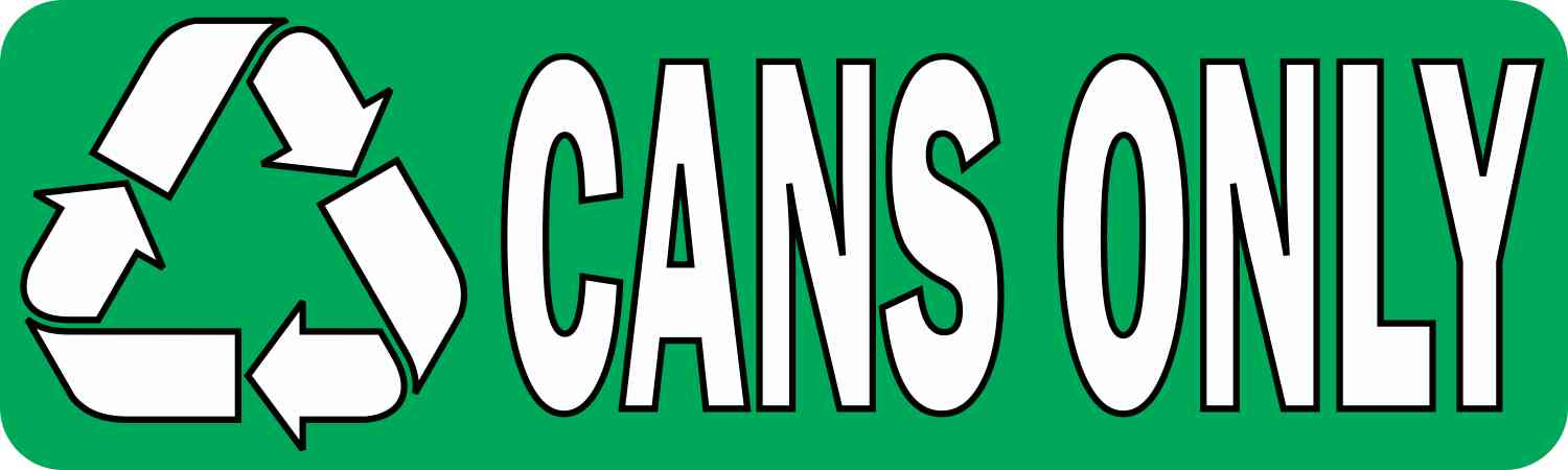 Cans Only Permanent Vinyl Sticker
