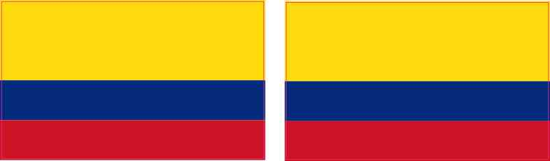 Colombian Flag Stickers
