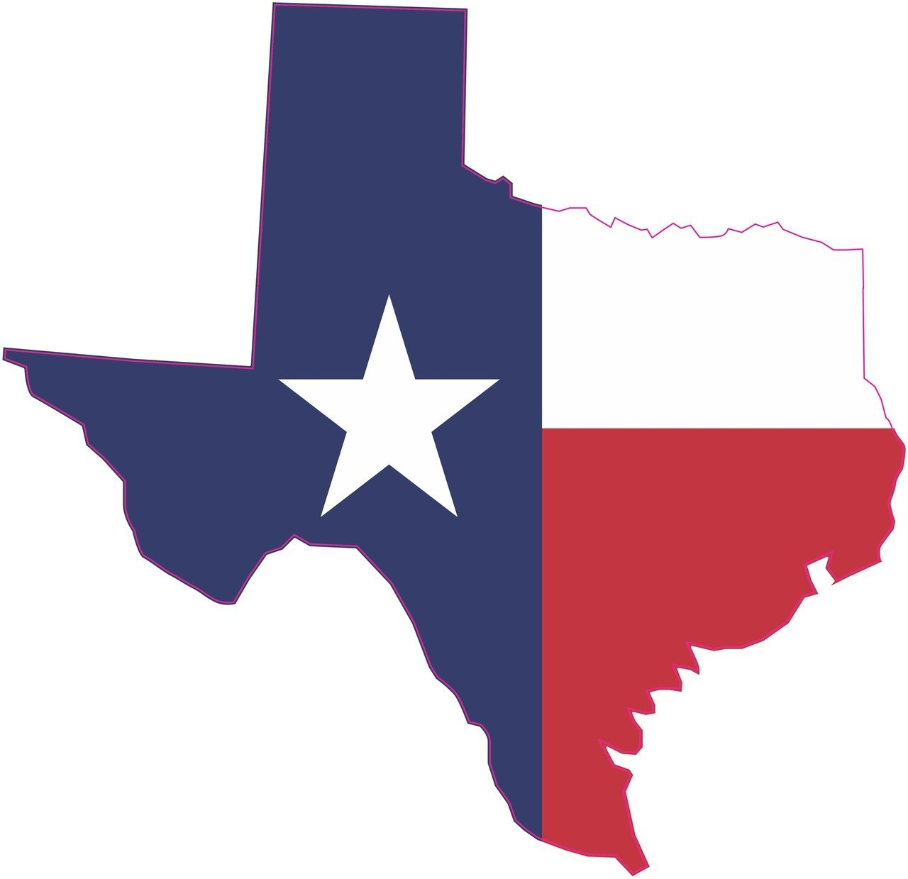 Die Cut Texas Flag Sticker