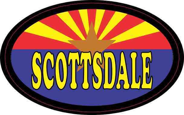 Oval Arizonan Flag Scottsdale Sticker
