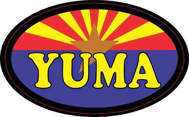 Oval Arizonan Flag Yuma Sticker