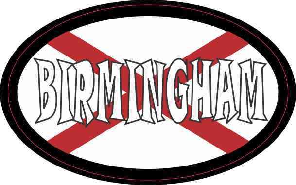 Oval Alabaman Flag Birmingham Sticker