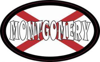Oval Alabaman Flag Montgomery Sticker