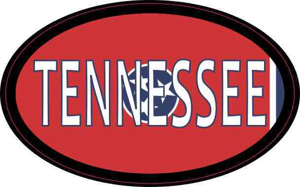 Flag Oval Tennessee Sticker