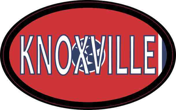 Oval Tennessee Flag Knoxville Sticker