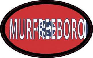 Oval Tennessee Flag Murfreeboro Sticker