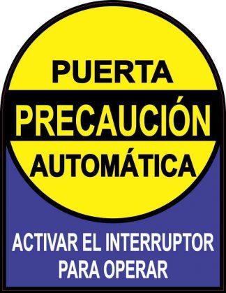 Puerta Automática Sticker