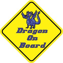 Blue Dragon On Board Sticker