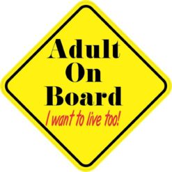 Adult On Board Magnet