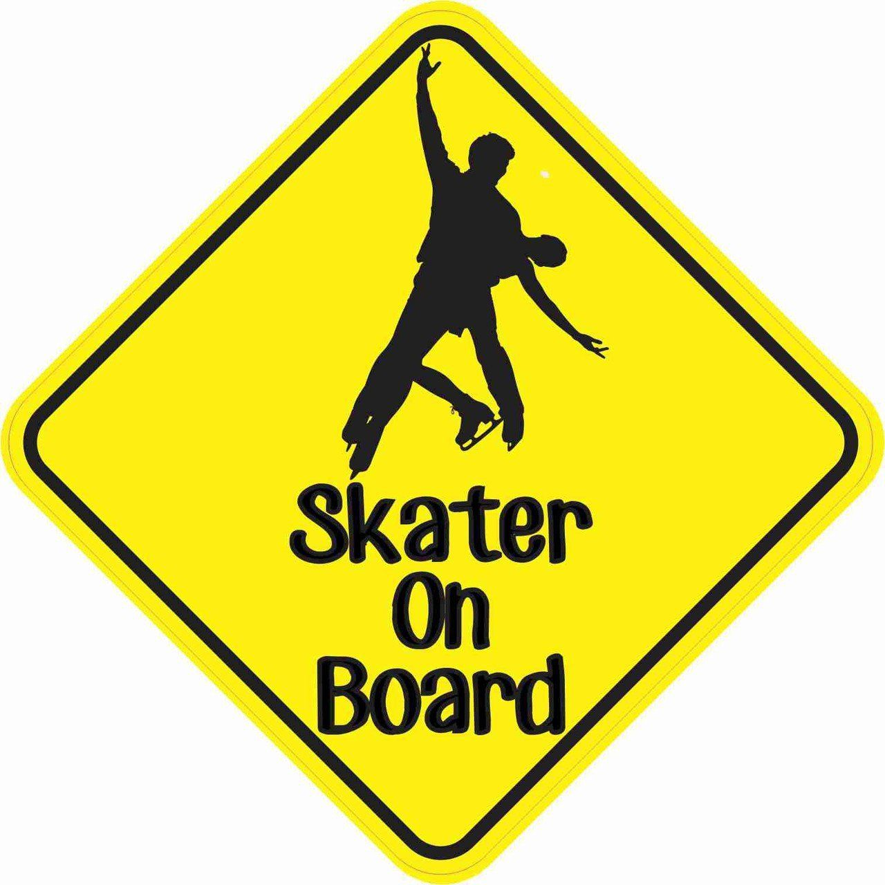 Duo Skater On Board Magnet