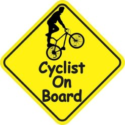 Male Cyclist On Board Magnet