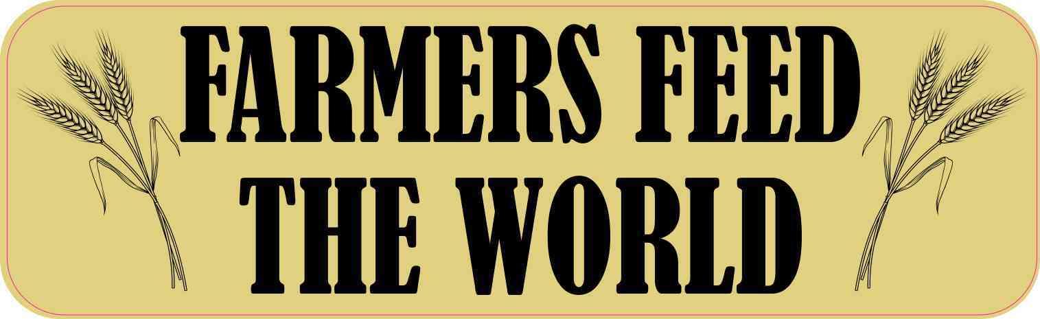 Wheat Farmers Feed the World Bumper Sticker