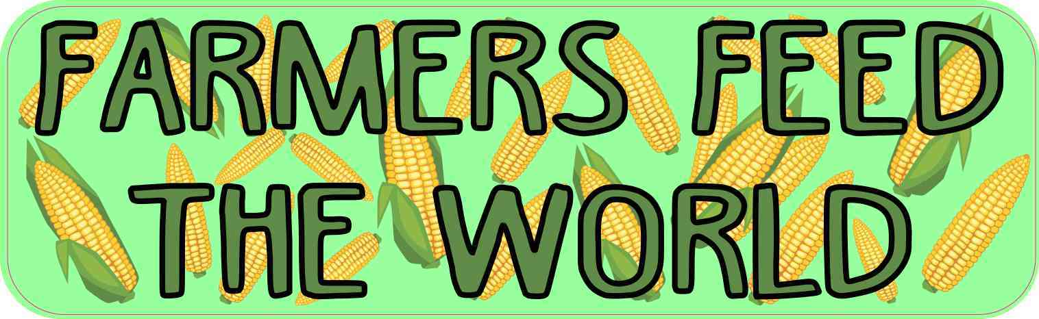 Corn Pattern Farmers Feed the World Magnet