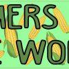 Corn Pattern Farmers Feed the World Bumper Sticker