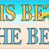Life Is Better at the Beach Bumper Sticker