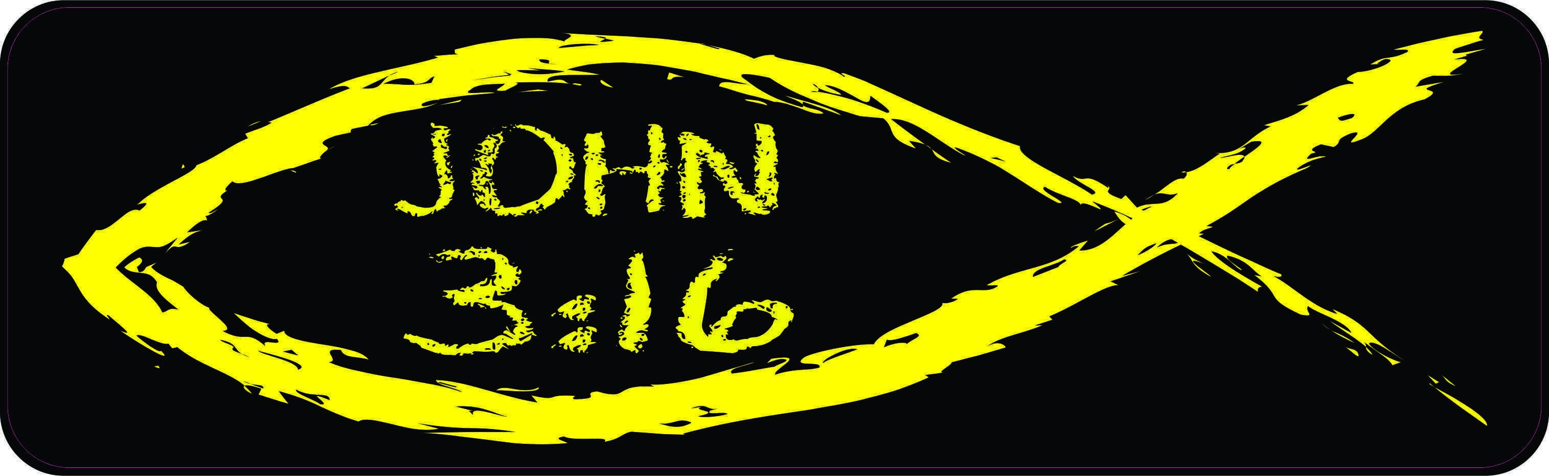 Christian Fish John 3:16 Magnet