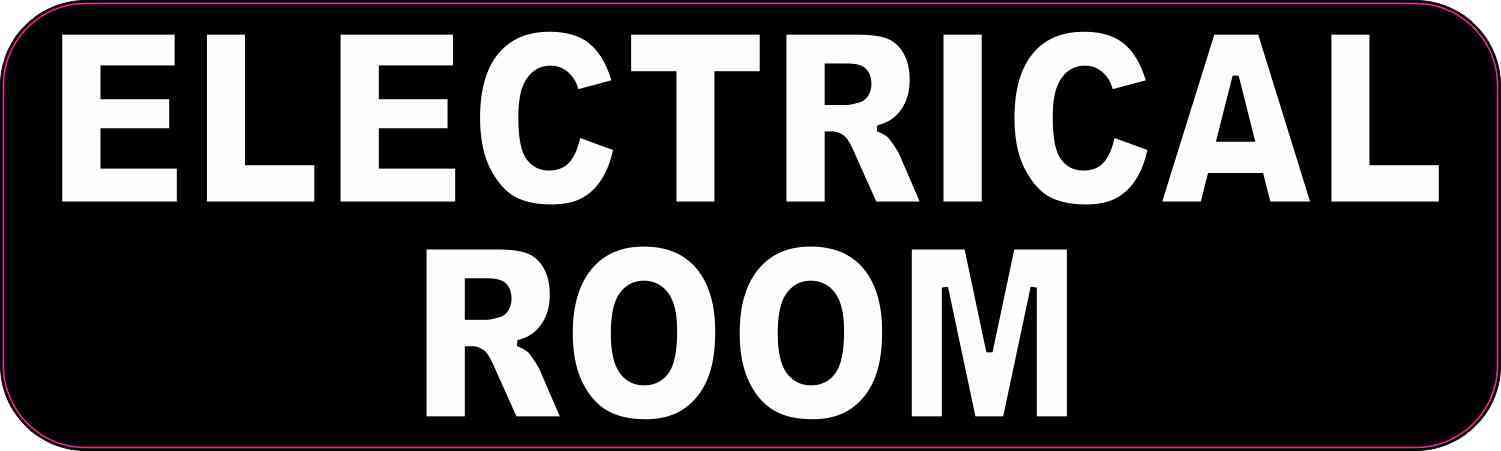 Caps Electrical Room Sticker