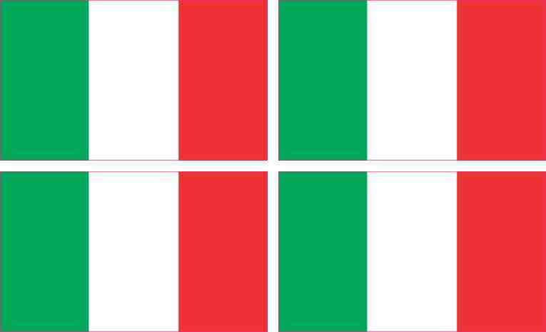 Italian Flag Stickers