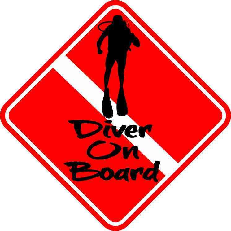 Diver On Board Magnet