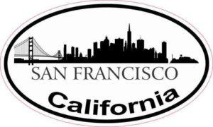 Skyline Oval San Francisco Sticker
