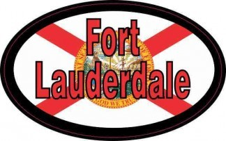 Oval Florida Flag Fort Lauderdale Sticker