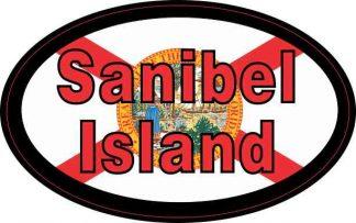 Oval Sanibel Island Sticker