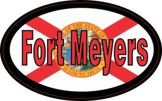 Flag Oval Fort Meyers Sticker