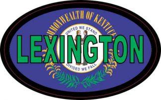 Flag Oval Lexington Sticker