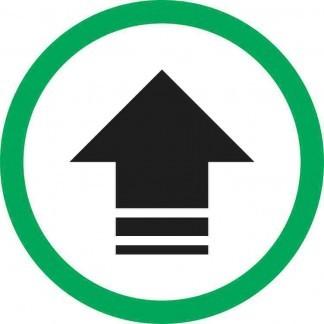 Circular Black Arrow Sticker